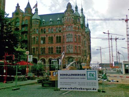 Kampfmittelbergung in der Hamburger Speicherstadt